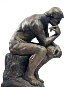 in deep thought statue